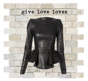 Give Love Loves: Ruffled Leather Love