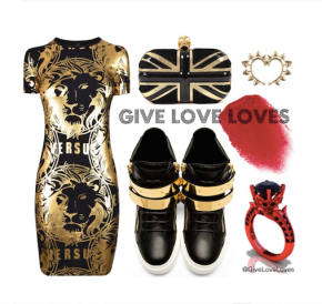 Give Love Loves: Black & Red and Gold all over