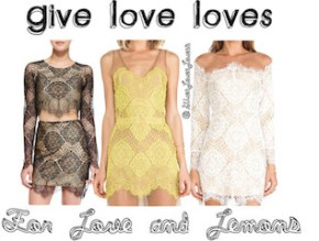 Give Love Loves: For Love and Lemons Lace Mini's