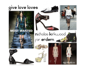 Give Love Loves: Nicholas Kirkwood for ERDEM