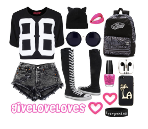 Give Love Loves: Black & White Hi-Lo