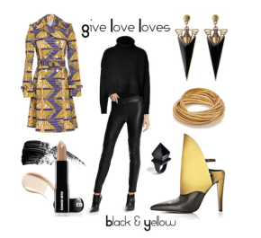 Give Love Loves: Black and Yellow